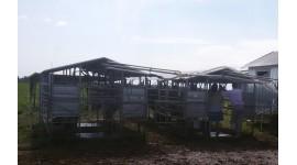 Salle de traite mobile pour 100-200 vaches