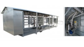 Salle de traite mobile MOOTECH-6 avec chambre de réception et armoire d'équipement