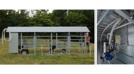 Salle de traite mobile MOOTECH-4 avec chambre de réception  et armoire d'équipement
