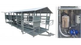 Salle de traite mobile MOOTECH-6 avec chambre de réception