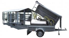 Salle de traite mobile pour jusqu'à 50 vaches avec traite vers un tank à lait en acier inox