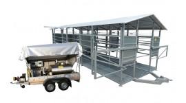 Salle de traite mobile pour jusqu'à 50 vaches