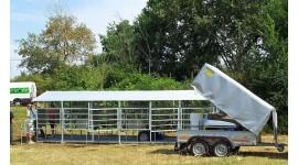 Salle de traite mobile de 50 à 100 vaches avec traite vers un tank à lait en acier inox