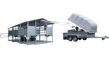 Traite mobile vers tank à lait en acier inox sous vide